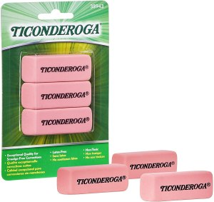 TICONDEROGA Pink Carnation Erasers
