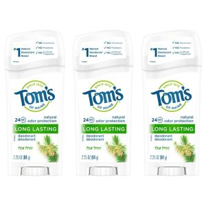 Tom's of Maine natural deodorant, tea tree oil deodorant, benefits of tea tree oil