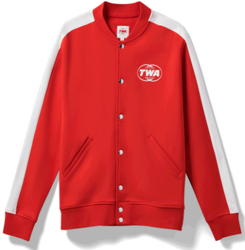 TWA Retro look red track jacket