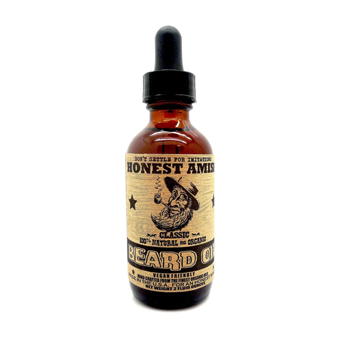 beard oil amish bottle