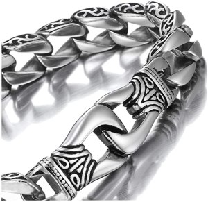Urban Jewelry Amazing Stainless Steel Men's Link Bracelet