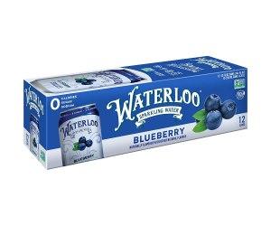 waterloo blueberry sparkling water, best sparkling water