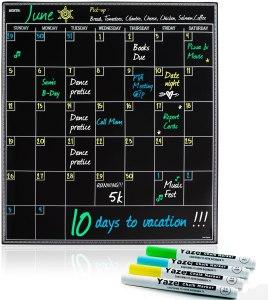 Yaze Magnet Large Magnetic Dry Erase Calendar with Chalkboard Design