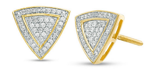Zales diamond pave triangle stud earrings