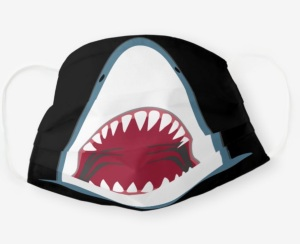 Zazzle shark teeth face mask for kids, face masks for kids