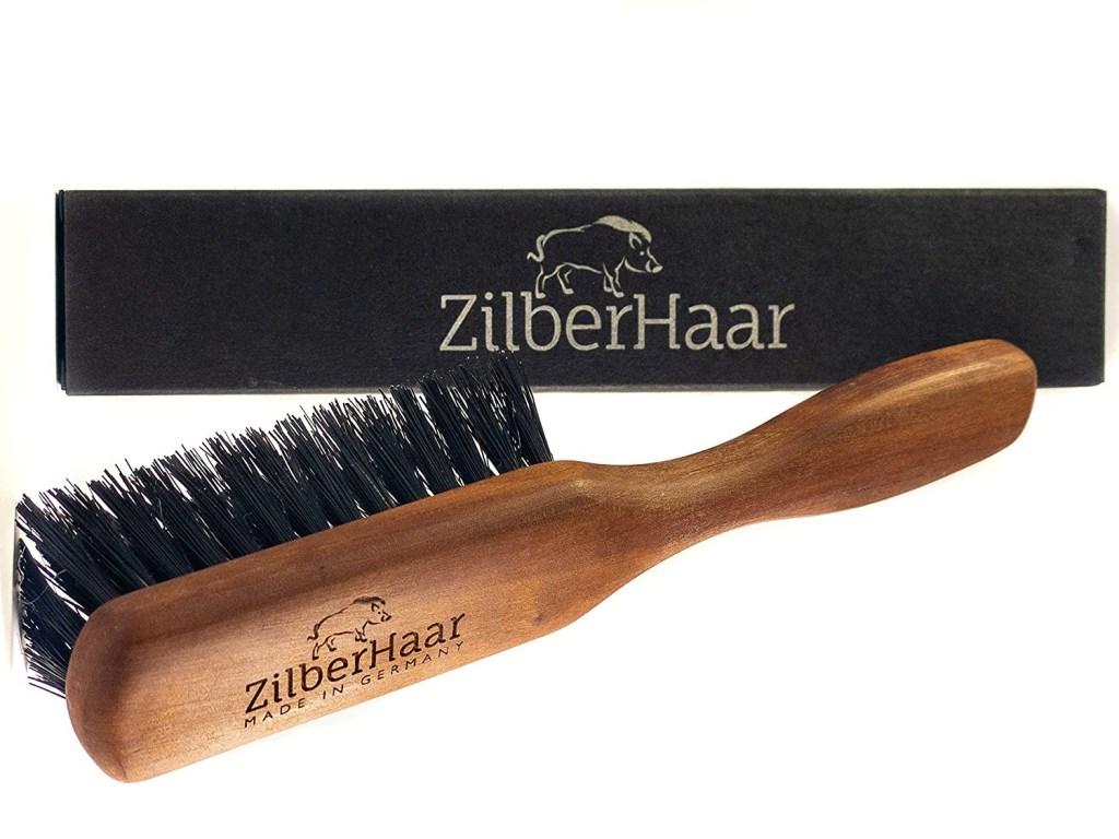 Zilberhaar regular beard brush with soft boar bristles