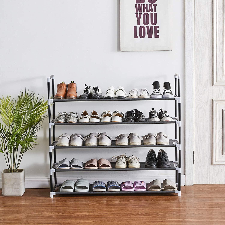 best shoe racks on amazon Rose Home Fashion 5-Tier Shoe Rack