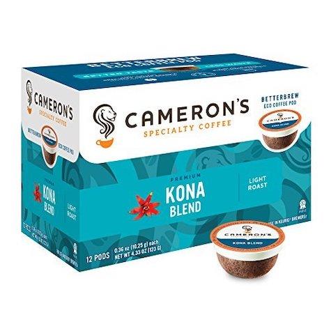 best keurig pods camerons specialty coffee kona blend