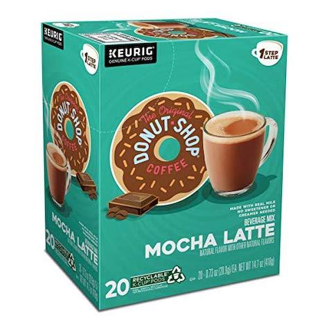 best keurig pods, original donut shop mocha latte