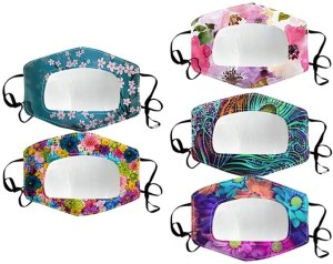FatCat 5Pcs Reusable Face Bandanas