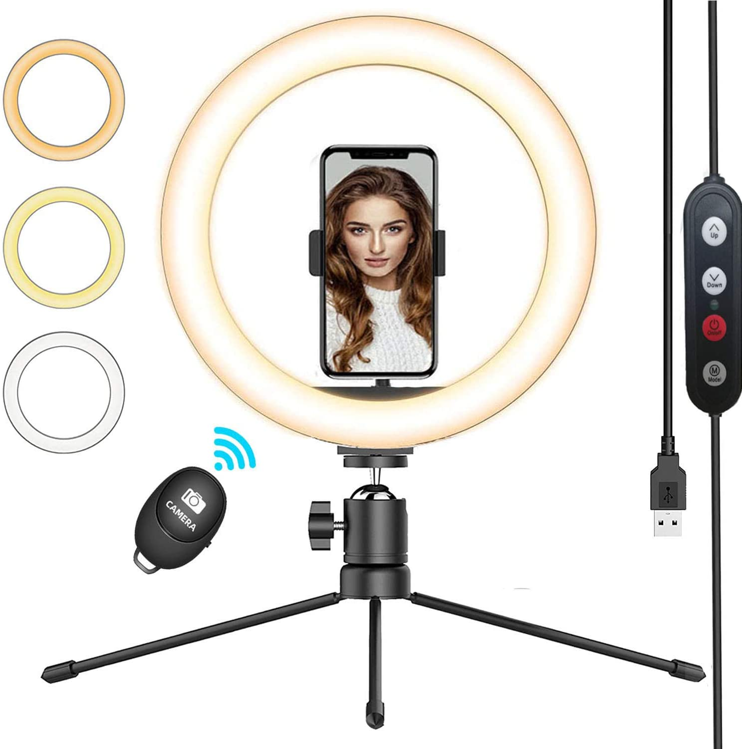 QI-EU 10.2-Inch Ring Light