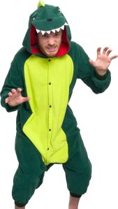 Adult dinosaur onesie halloween costume