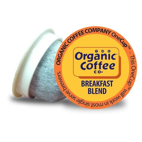 best keurig pods, organic coffee co breakfast blend