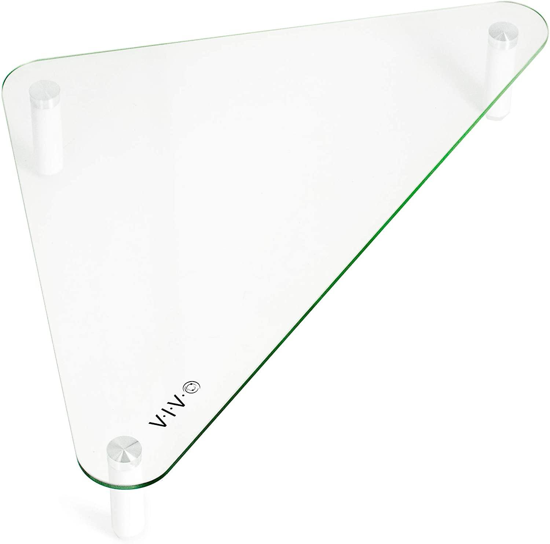 VIVO Glass Ergonomic Tabletop Riser