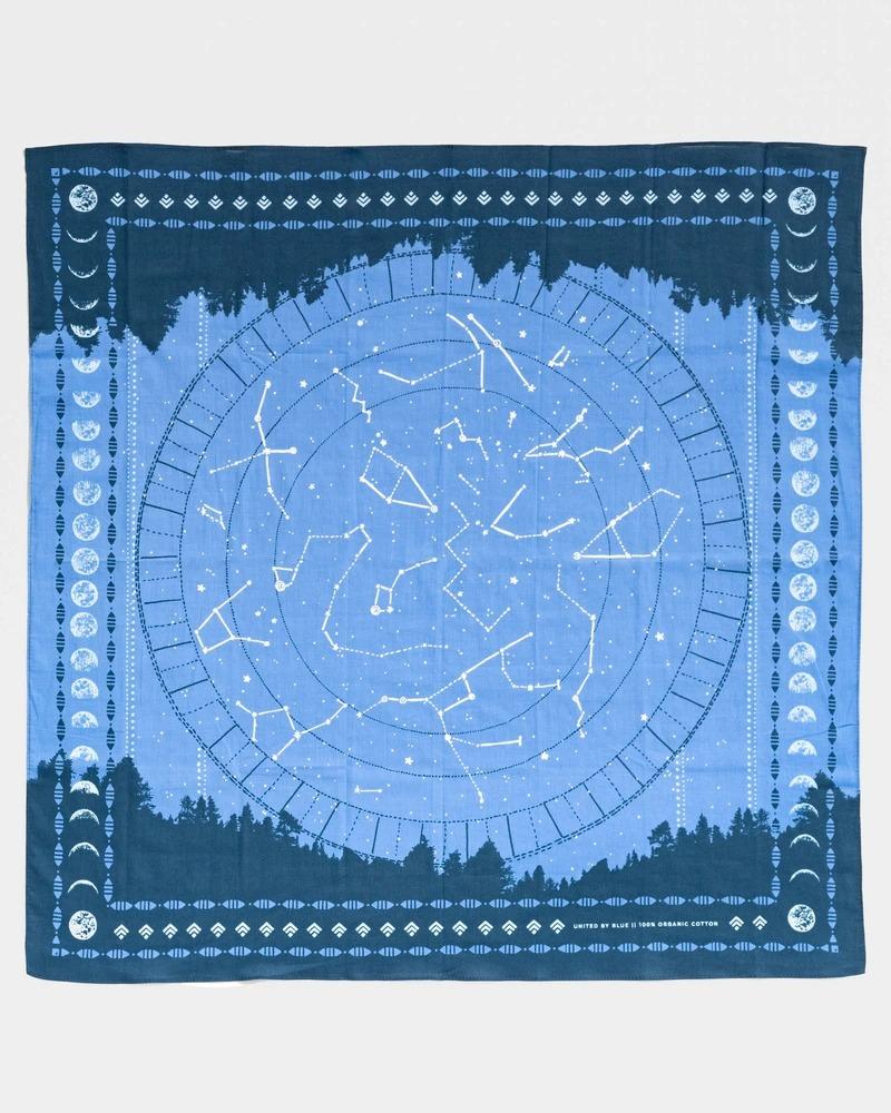 Blue star gaze bandana