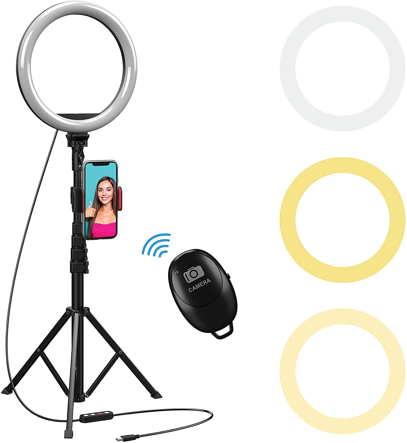 Beam Electronics 10-Inch Selfie Ring Light