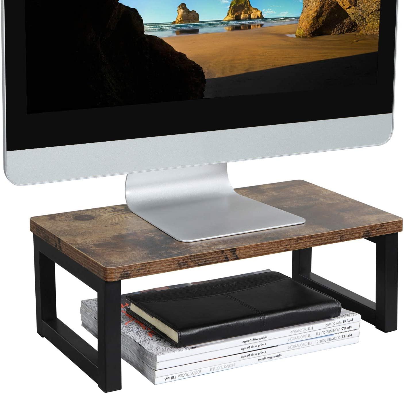 OROPY Vintage Wood Monitor Stand Riser