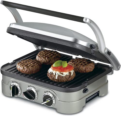 cuisinart 5 in 1 griller with burgers