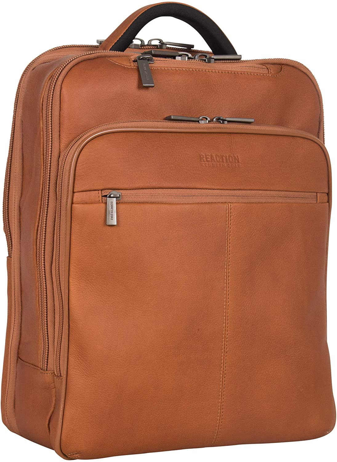 best work bags for men - light brown leather business backpack