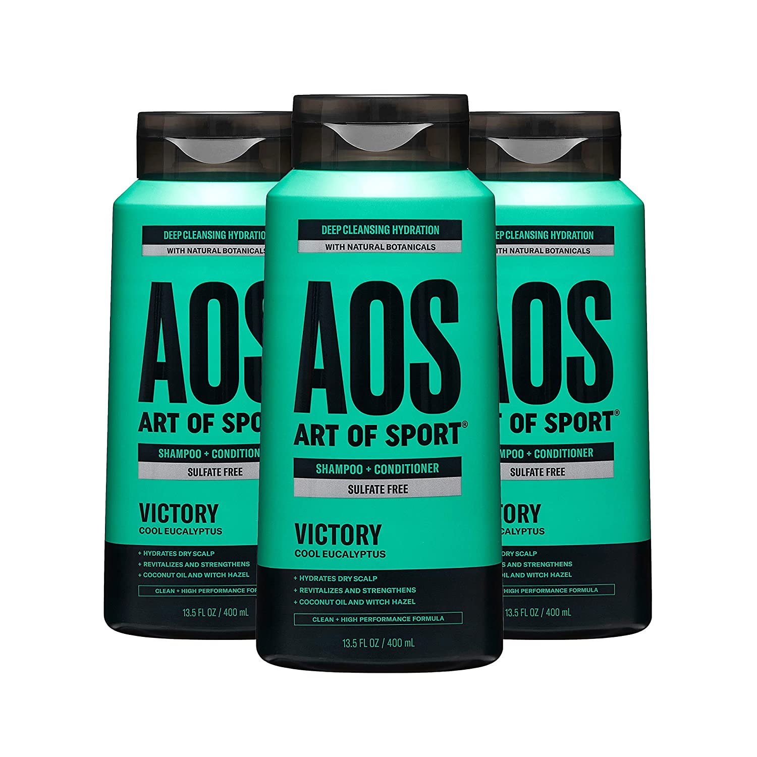 Art of Sport 2-in-1 Shampoo and Conditioner, Victory scent, 3-pack; best shampoo for men