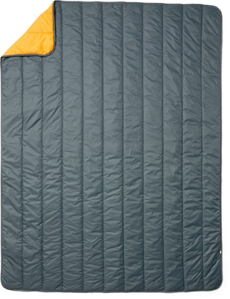 REI green camp blanket