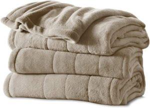 light brown sherpa blanket