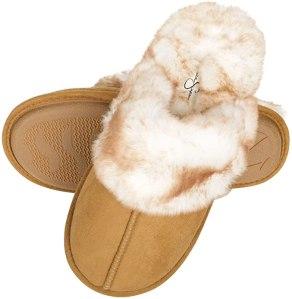 jessica simpson comfy faux fur slipper