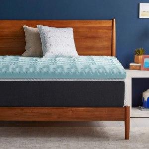 LUCID gel memory foam mattress topper, cooling mattress topper