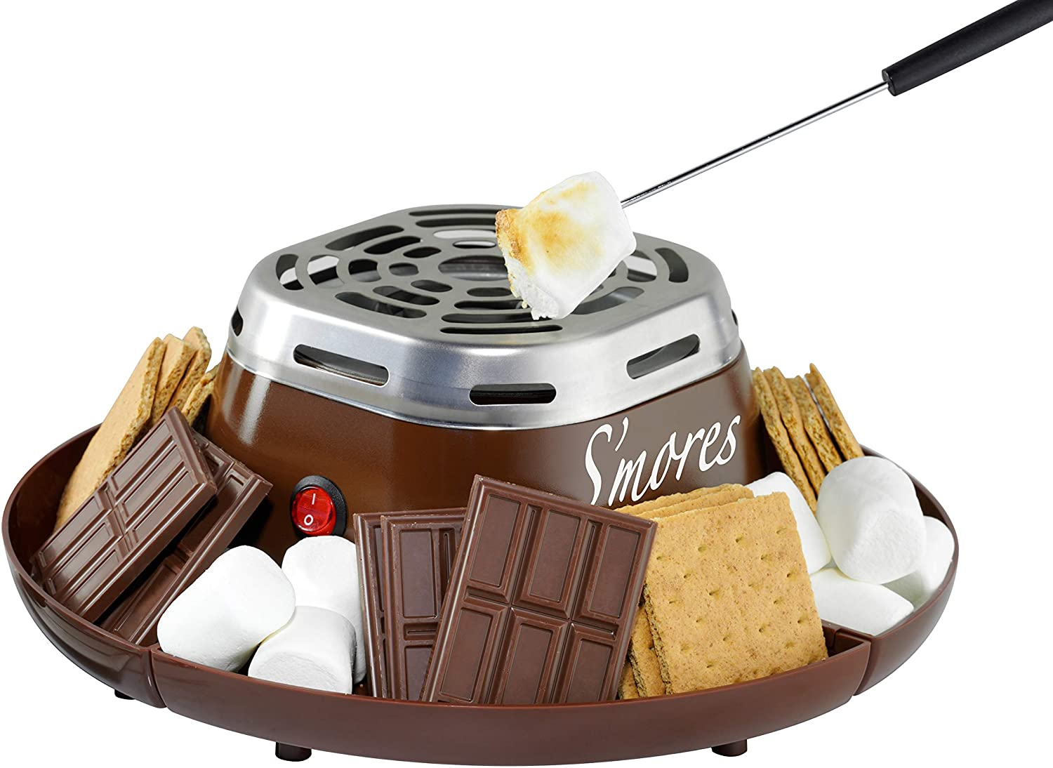 Nostalgia Indoor Electric Stainless Steel S'mores Maker