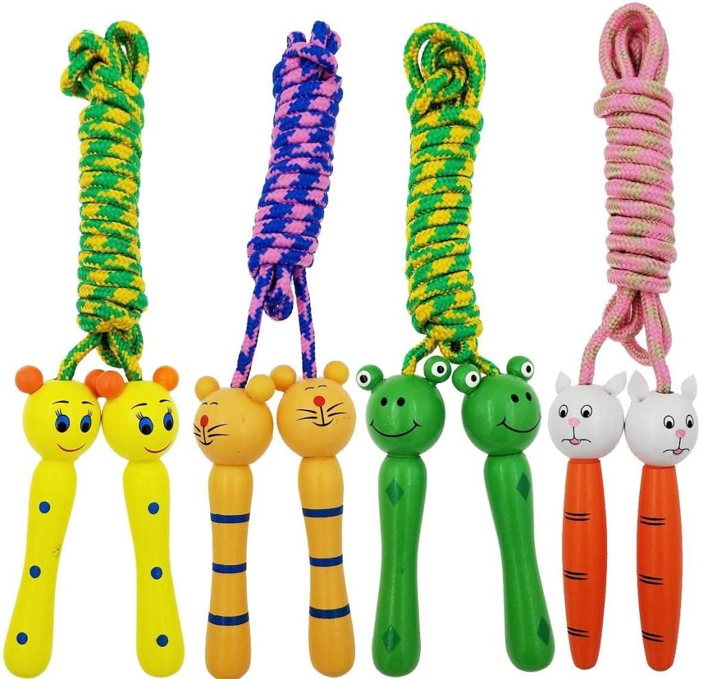 Sackorange 4 Pack Jump Rope with Wood Handles, best jump ropes
