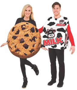 adult's milk and cookie costume, couples costume, best couples costumes
