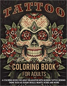 adult coloring books tattoo coloring book for adults relaxation
