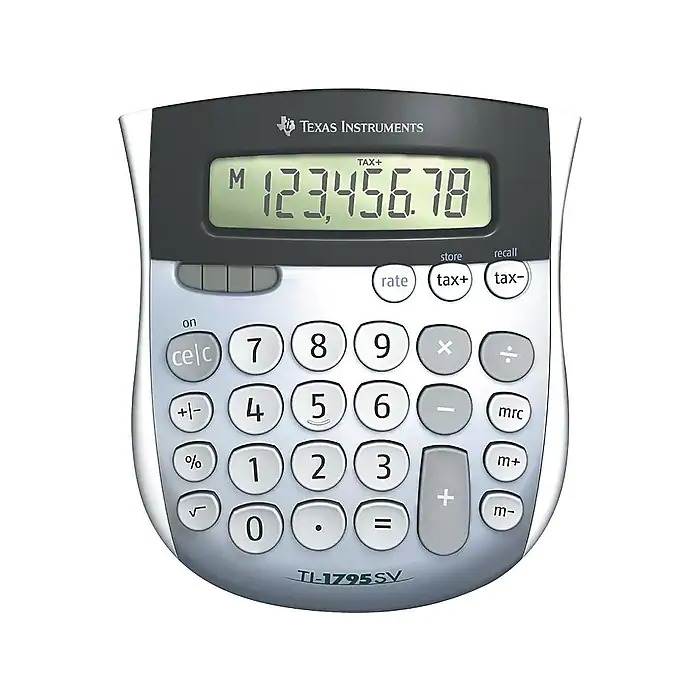 Texas Instruments TI-1795 SV 8-Digit Desktop Calculator