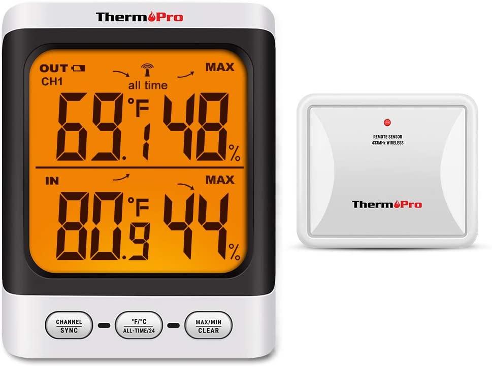 ThermoPro TP62 Digital Wireless Hygrometer