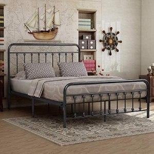 Victorian Vintage Style Platform Metal Bed Frame