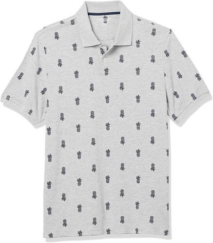 amazon essentials pineapple pique - best mens polo shirts