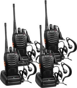 long range walkie talkies arcshell rechargeable