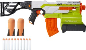 automatic nerf gun - NERF Modulus Demolisher 2-in-1 Motorized Blaster