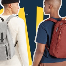 two guys wearing backpacks