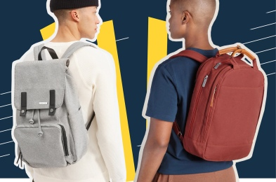 two guys wearing backpacks