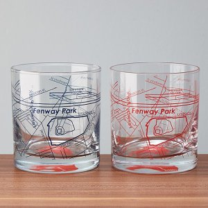 baseball park whiskey glasses, baseball gifts