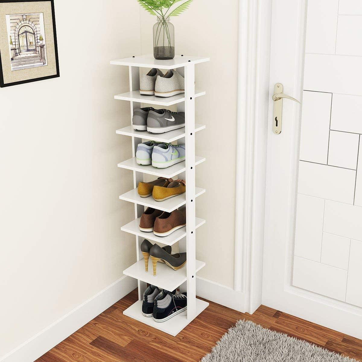 Tangkula Wooden shoe Racks, best shoe racks