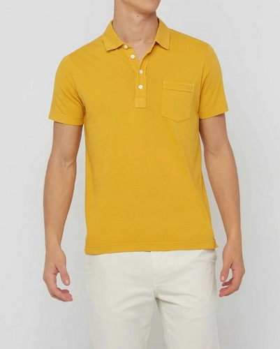 Yellow Billy Reid Pensacola Polo shirt