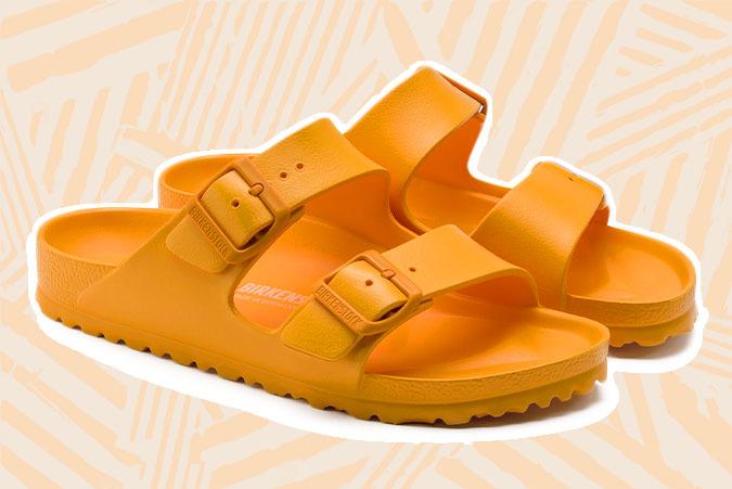 birkenstock eva sandals orange waterproof
