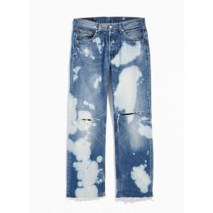 Urban Renewal Vintage Levi's 501 Bleach Busted Knee Jean