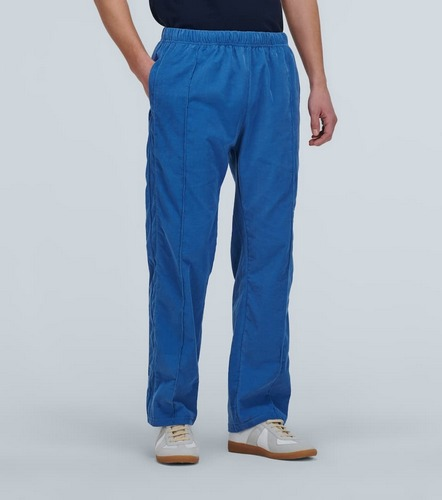 blue corduroy relaxed corduroy pants les tiens