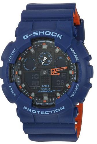 Casio blue g shock quartz watch