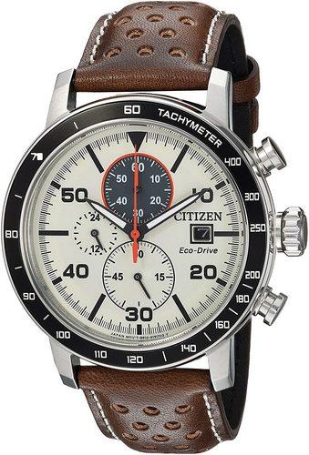 Citizen ca0649 eco drive chronograph brown strap