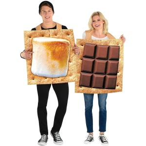 s'mores couples costume, best couples costumes, couples costumes