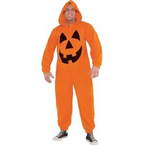 Jack-o'-Lantern onesie Halloween costume